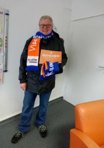 Glücklicher Gewinner Richard Braunschweig